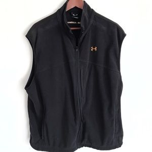Men's Under Armour Zip-Up Black Vest w/Pockets